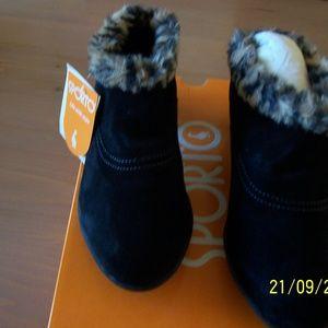 SPORTO Shoes - SPORTO NIB SUEDE AND FUR MULE BOOT H2O PROOF 9M